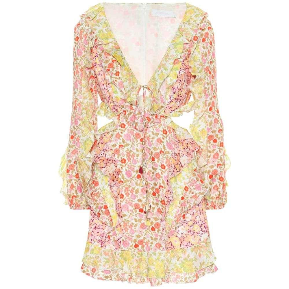 ジマーマン Zimmermann レディース ワンピース・ドレス ワンピース【Goldie floral linen minidress】Spliced