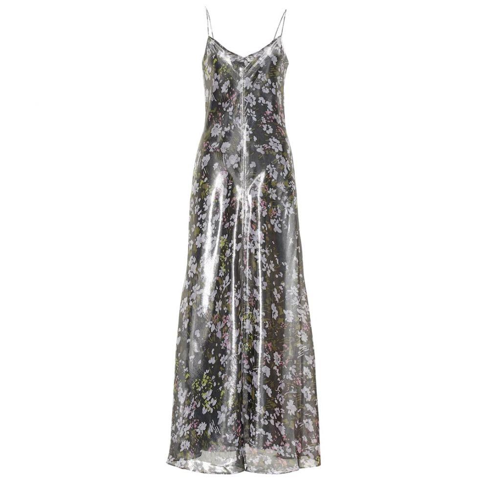 ガニー Ganni レディース ワンピース・ドレス ワンピース【Metallic silk dress】Black