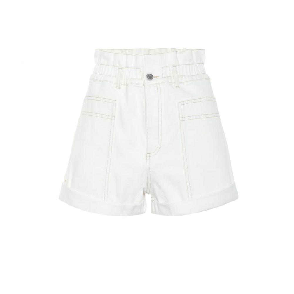 ステラ マッカートニー Stella McCartney レディース ボトムス・パンツ ショートパンツ【High-rise denim shorts】White