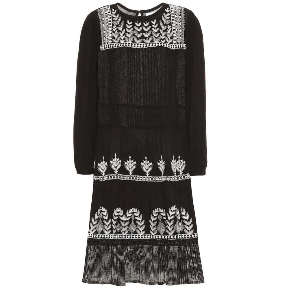 ベルベット グラハム&スペンサー Velvet レディース ワンピース・ドレス ワンピース【Arabella floral-embroidered dress】Black