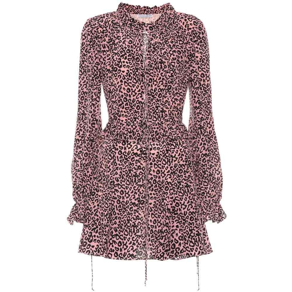 レ レヴェリズ Les Reveries レディース ワンピース・ドレス ワンピース【Leopard-print crepe de chine minidress】Pink Leopard
