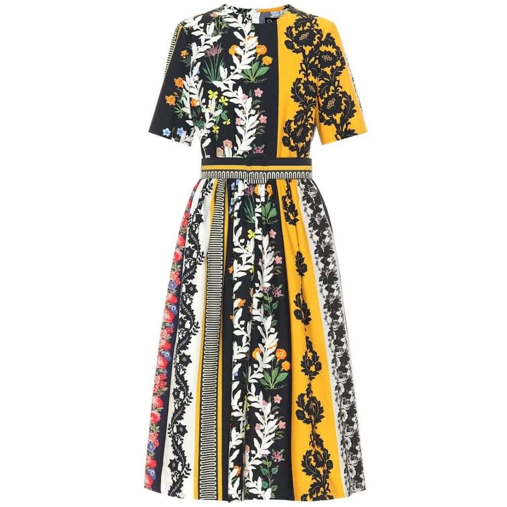 オスカー デ ラ レンタ Oscar de la Renta レディース ワンピース・ドレス ワンピース【Floral stretch-cotton midi dress】Saffron Multi