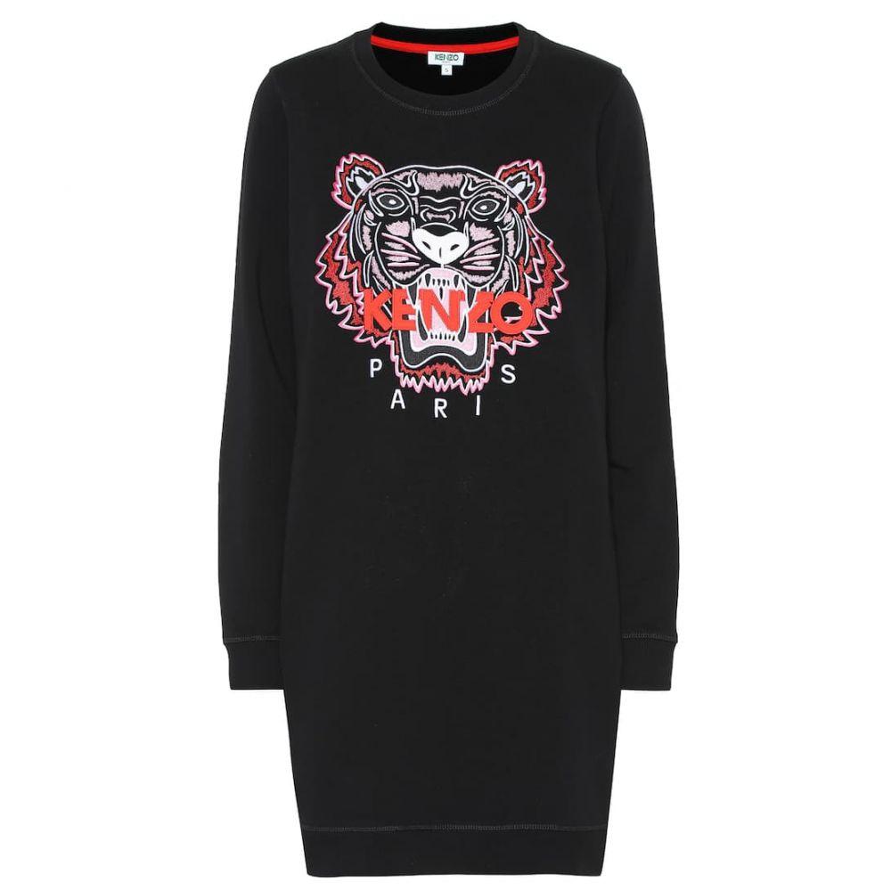 ケンゾー Kenzo レディース ワンピース・ドレス ワンピース【Tiger Logo cotton sweater dress】black