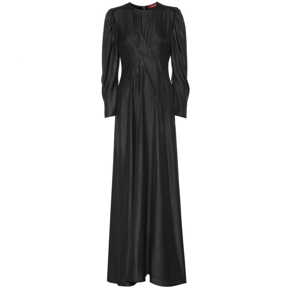 シエス マルジャン Sies Marjan レディース ワンピース・ドレス パーティードレス【Virginia hammered satin maxi dress】Black