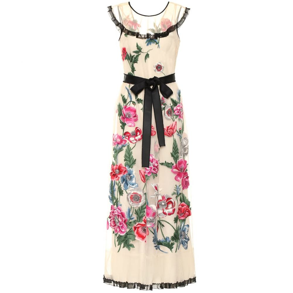 レッド ヴァレンティノ REDValentino レディース ワンピース・ドレス パーティードレス【Embroidered floral gown】Avorio