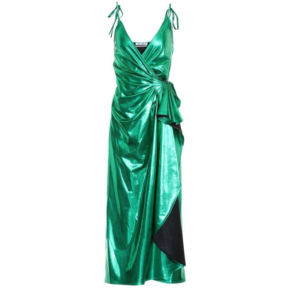 アティコ The Attico レディース ワンピース・ドレス パーティードレス【Metallic wrap dress】Emerald