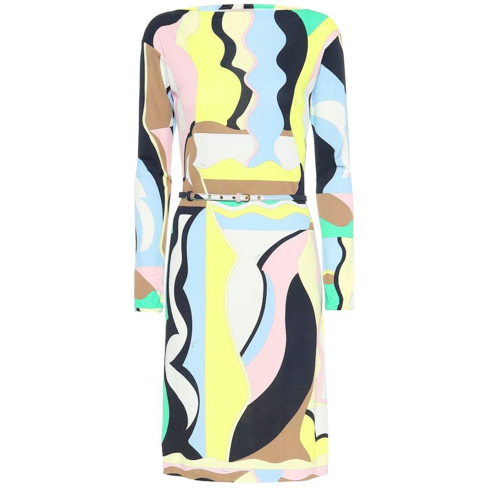 エミリオ プッチ Emilio Pucci レディース ワンピース・ドレス ワンピース【Printed silk-blend midi dress】Smeraldo/Menta