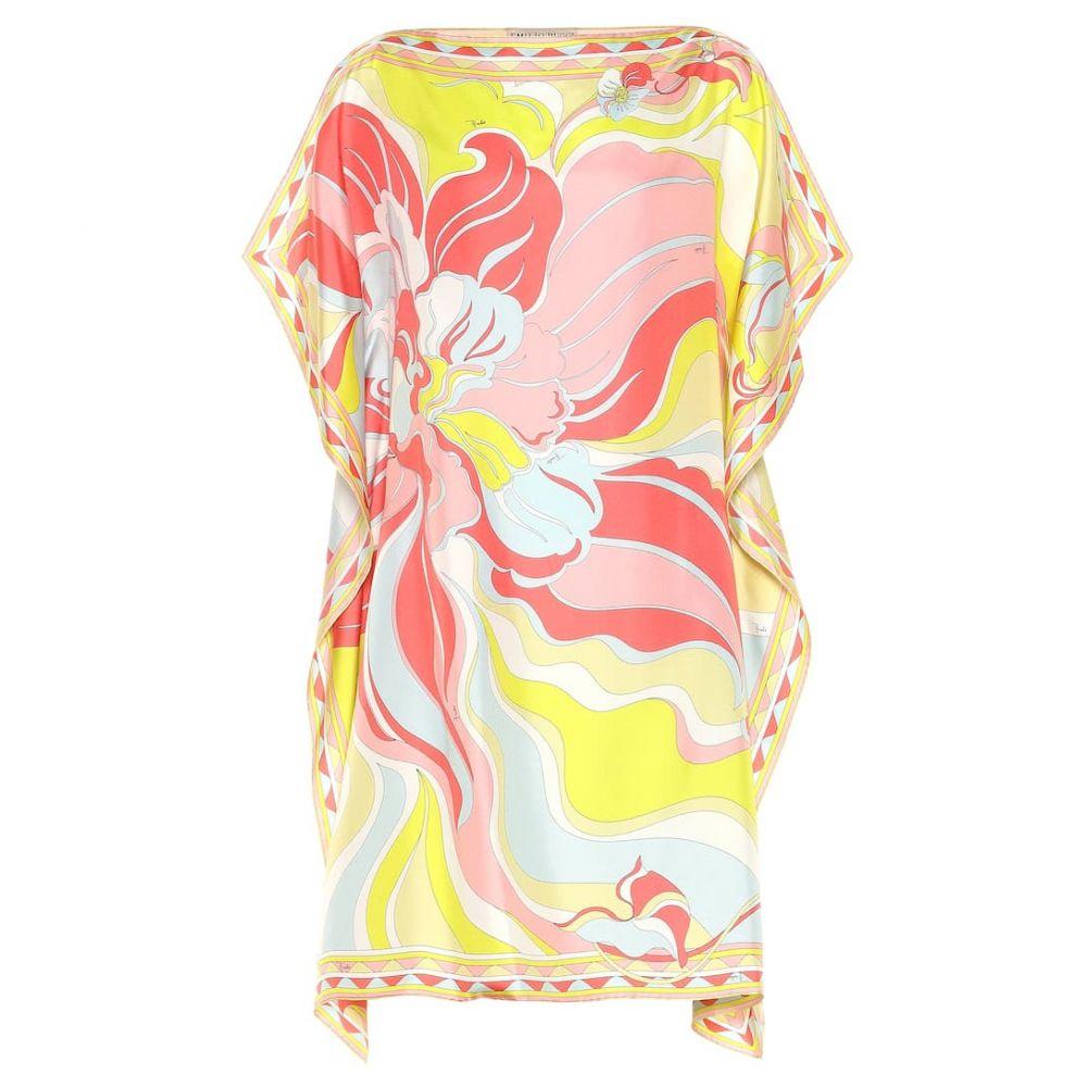 エミリオ プッチ Emilio Pucci Beach レディース 水着・ビーチウェア ビーチウェア【Printed silk kaftan】Rosa/Lime