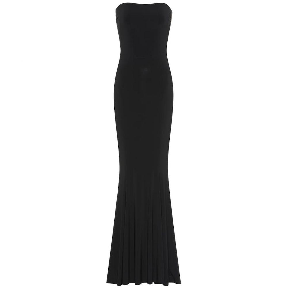 ノーマ カマリ Norma Kamali レディース ワンピース・ドレス パーティードレス【Fishtail strapless jersey gown】Black