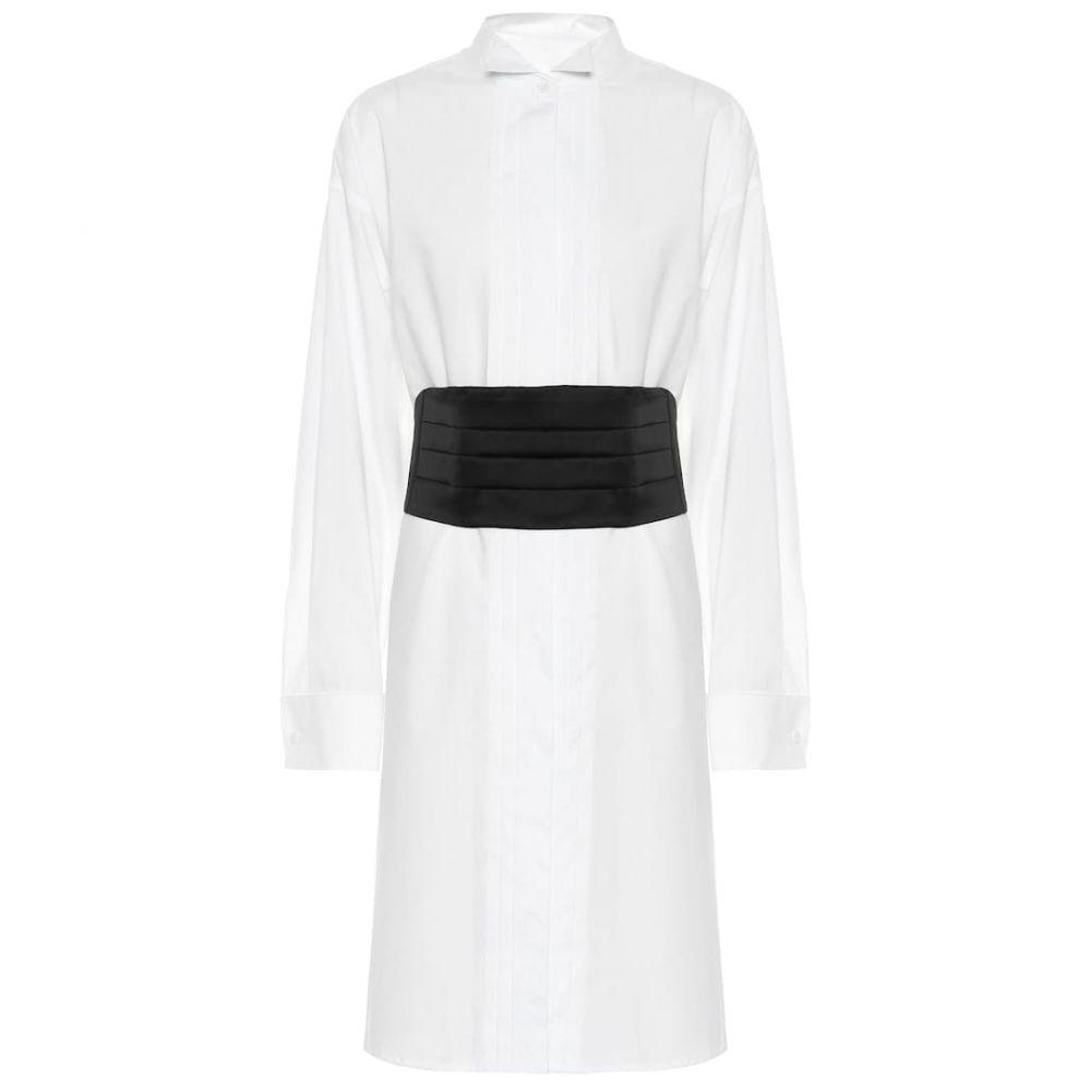 メゾン マルジェラ MM6 Maison Margiela レディース ワンピース・ドレス ワンピース【Cotton shirt dress】White