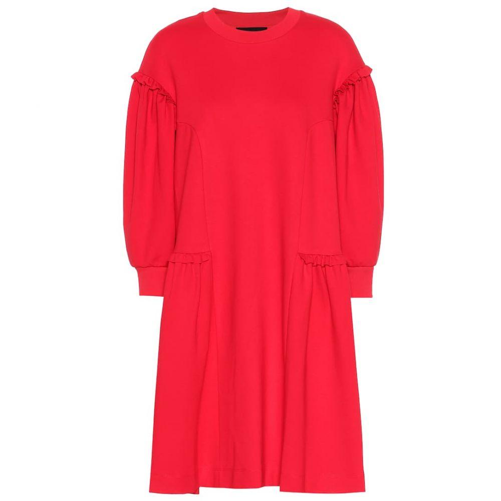 シモーネ ロシャ Simone Rocha レディース ワンピース・ドレス ワンピース【Ruffled jersey dress】Red