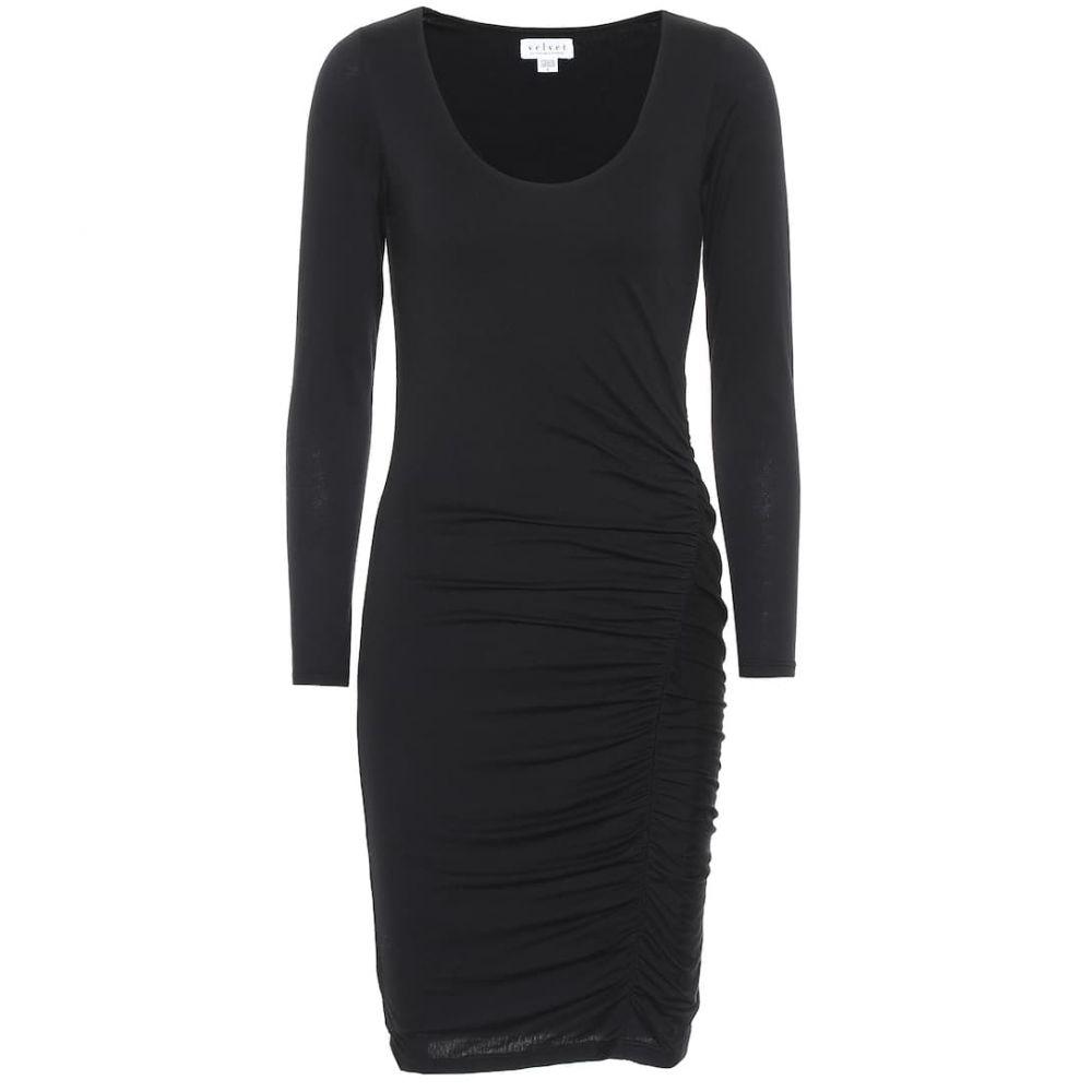 ベルベット グラハム&スペンサー Velvet レディース ワンピース・ドレス ワンピース【Jessica stretch-cotton dress】Black