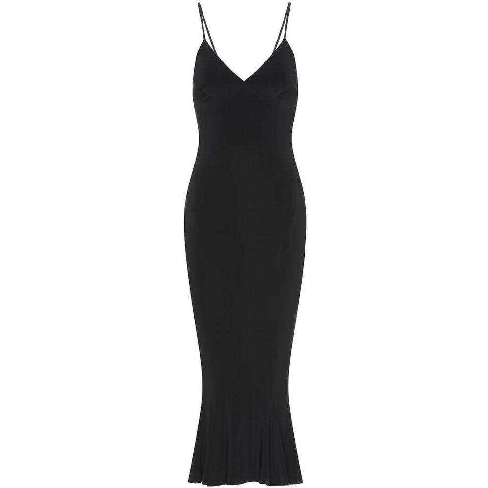 ノーマ カマリ Norma Kamali レディース ワンピース・ドレス ワンピース【Fishtail jersey slip midi dress】Black