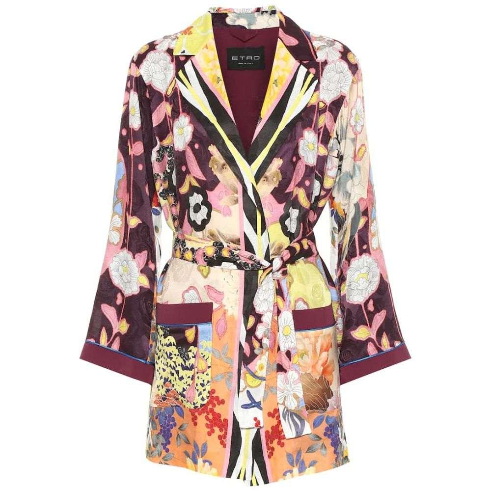 エトロ Etro レディース アウター スーツ・ジャケット【Floral silk-blend jacquard jacket】
