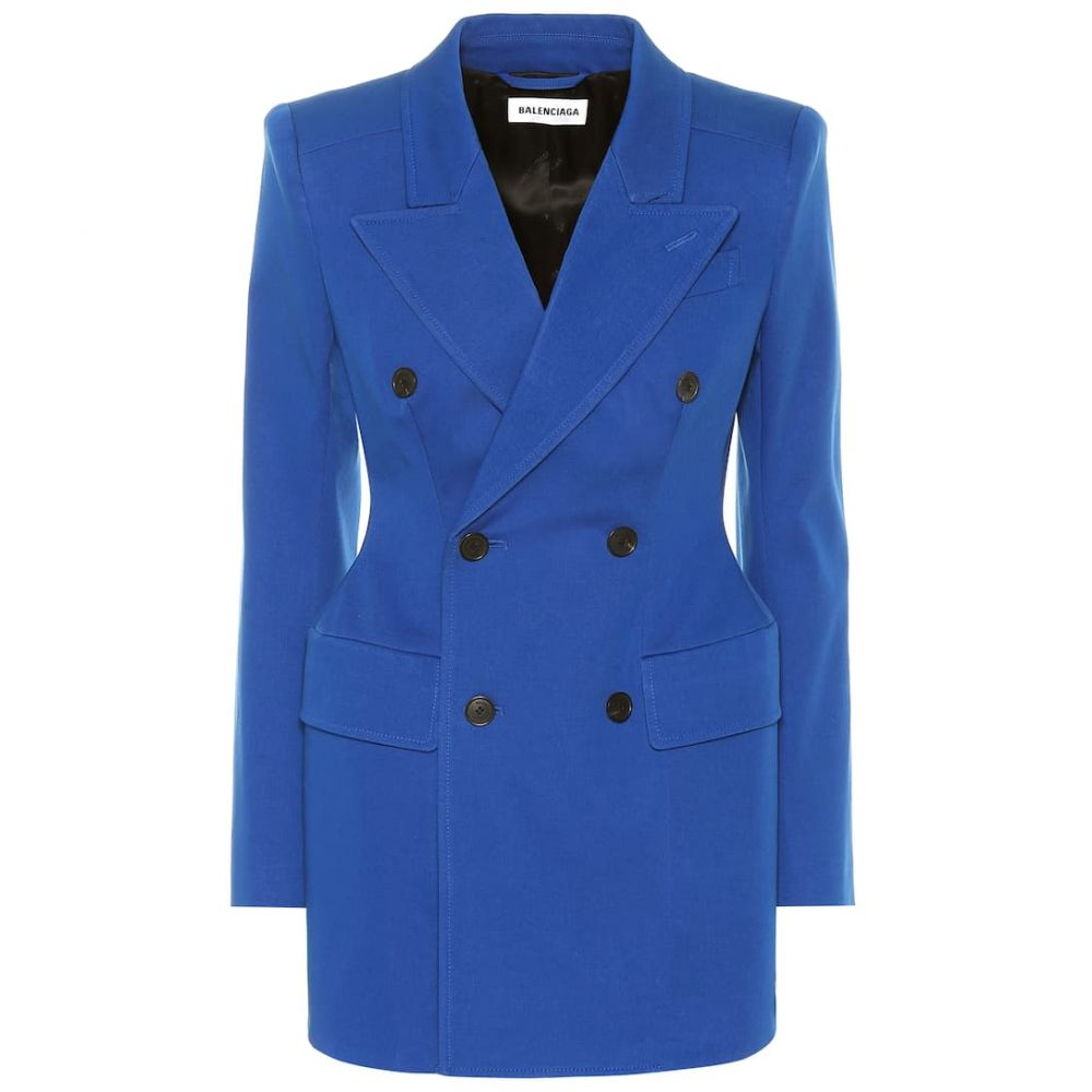 バレンシアガ Balenciaga レディース アウター スーツ・ジャケット【Hourglass stretch-cotton blazer】Royal Blue