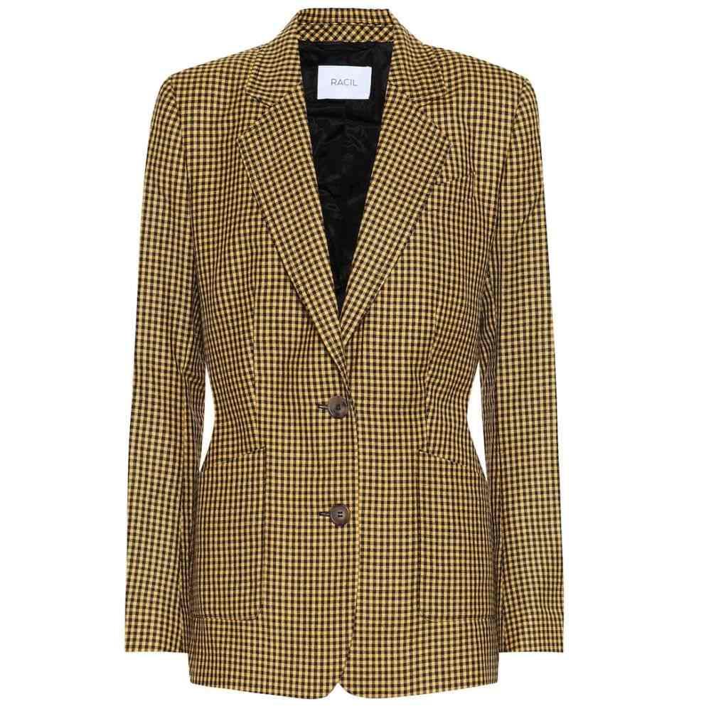 ラシル Racil レディース アウター スーツ・ジャケット【John checked wool blazer】Tuscan Sun Gingham