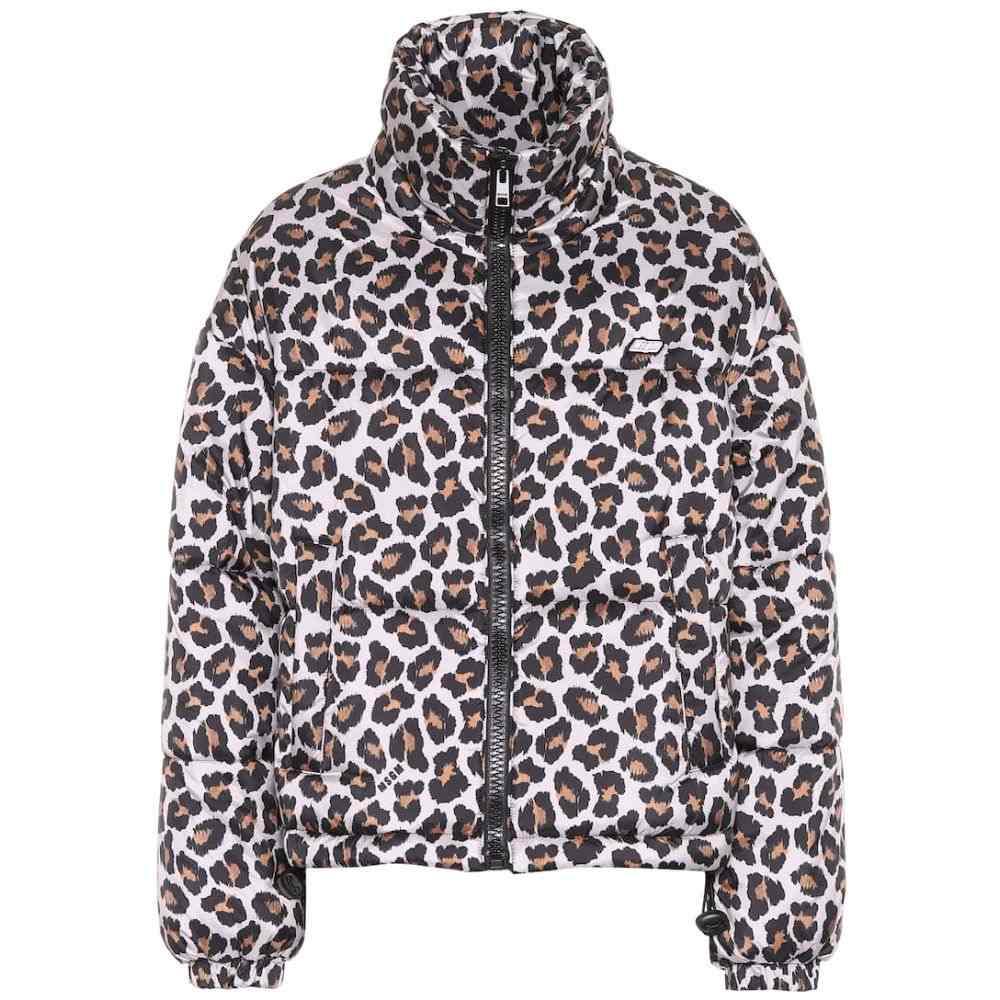 エムエスジーエム MSGM レディース アウター ダウン・中綿ジャケット【Leopard-print puffer jacket】