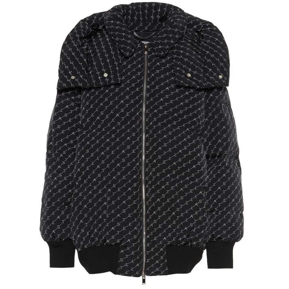 ステラ マッカートニー Stella McCartney レディース アウター ダウン・中綿ジャケット【Logo padded jacket】Black/Natural
