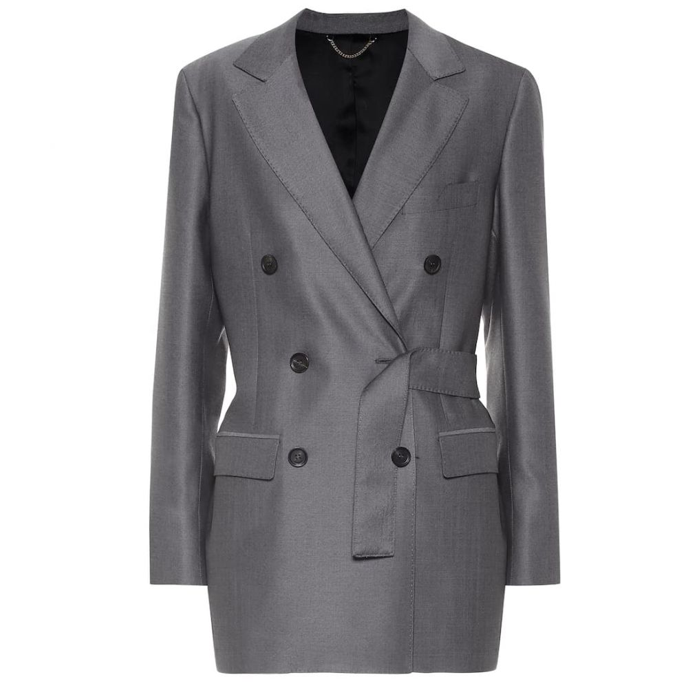 サルヴァトーレ フェラガモ Salvatore Ferragamo レディース アウター スーツ・ジャケット【Wool blazer】Black/Grey