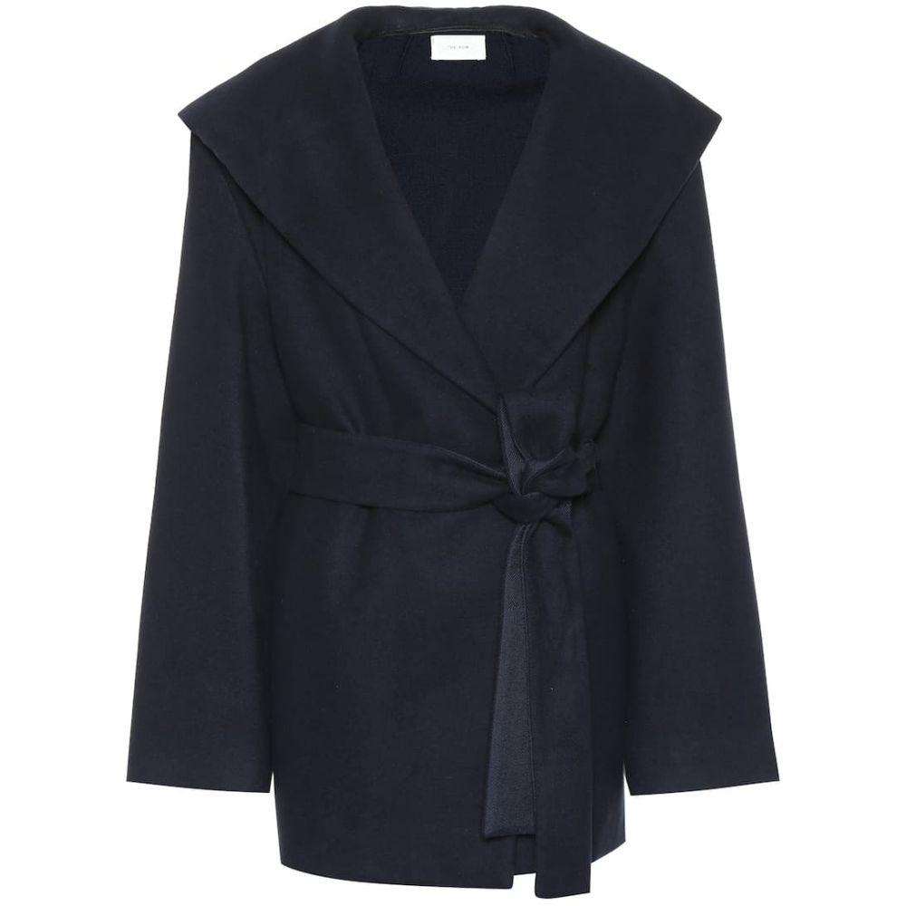 ザ ロウ The Row レディース アウター スーツ・ジャケット【Reyna cotton and wool jacket】Navy