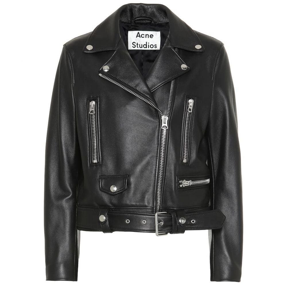 アクネ ストゥディオズ Acne Studios レディース アウター レザージャケット【Mock leather jacket】Black