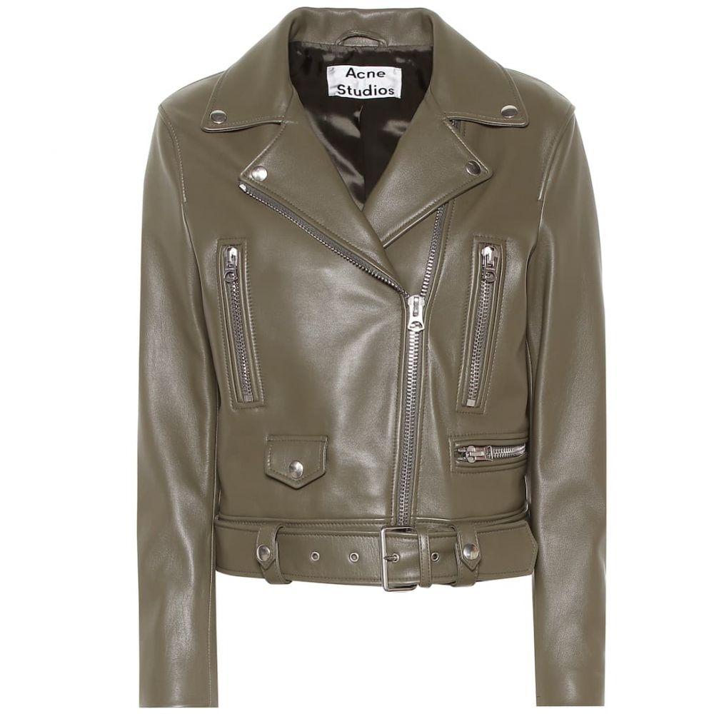 アクネ ストゥディオズ Acne Studios レディース アウター レザージャケット【Mock leather jacket】Hunter green