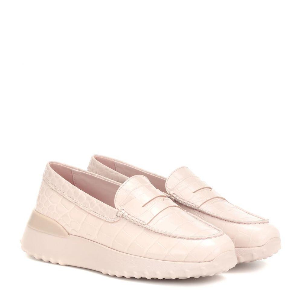 トッズ Tod's レディース シューズ・靴 ローファー・オックスフォード【croc-effect leather loafers】Collant/Fondo In Tinta