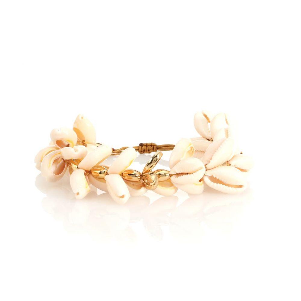 トフム TOHUM Design レディース ジュエリー・アクセサリー ブレスレット【Puka 22kt gold-plated cowry shell bracelet】