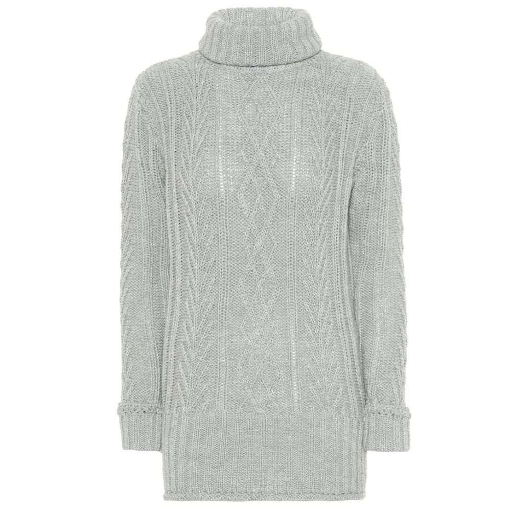 トム ブラウン Thom Browne レディース トップス ニット・セーター【Wool turtleneck sweater】Light Grey
