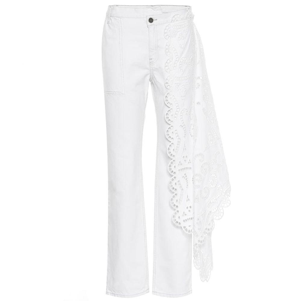 モンス Monse レディース ボトムス・パンツ ジーンズ・デニム【Lace-trimmed high-rise jeans】Natural