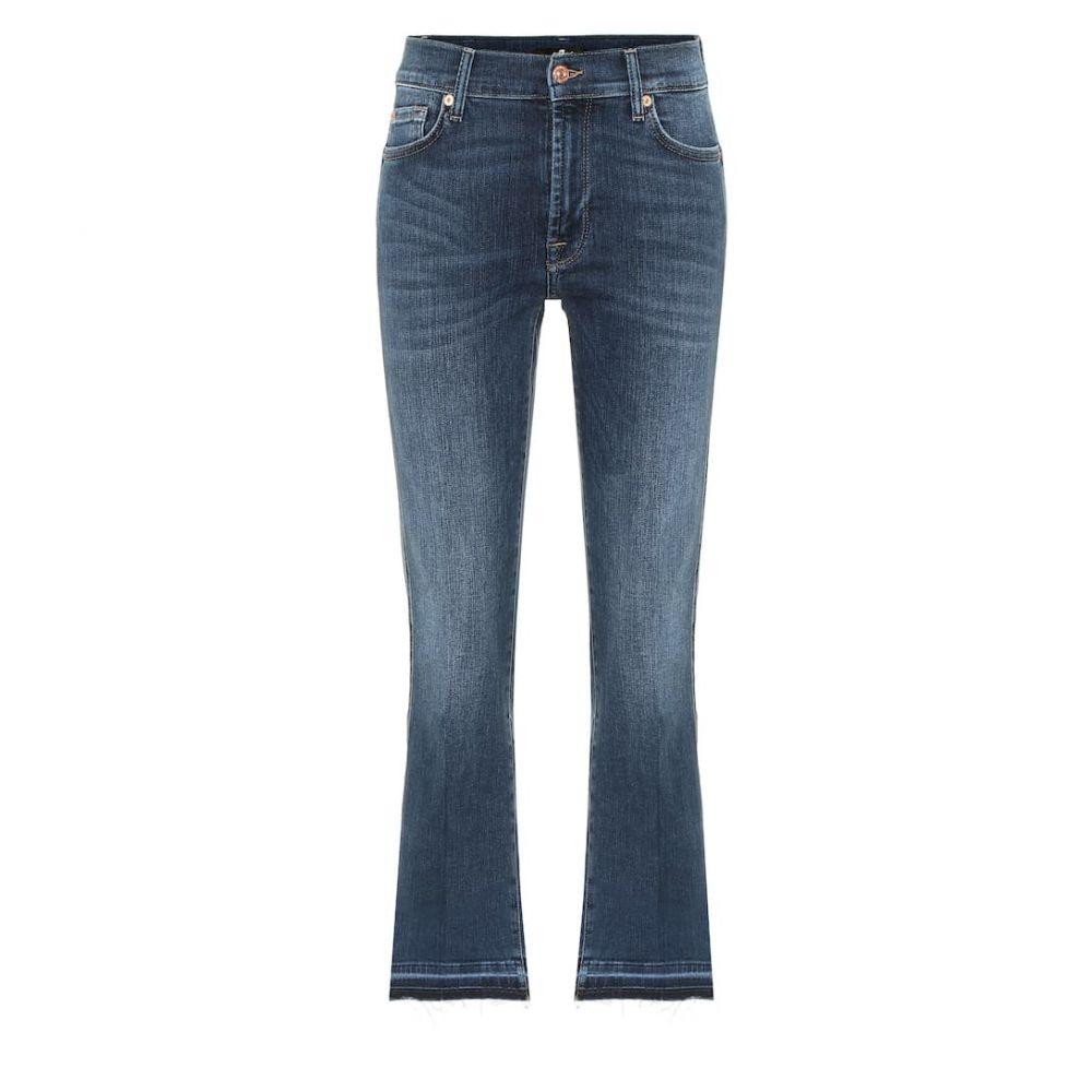 セブン フォー オール マンカインド 7 For All Mankind レディース ボトムス・パンツ ジーンズ・デニム【Cropped Boot Unrolled mid-rise jeans】Mid Blue