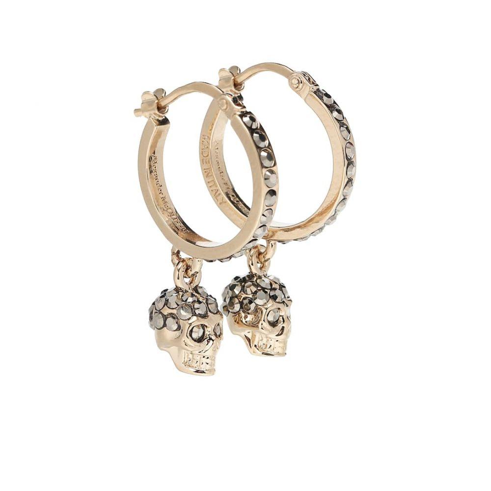 アレキサンダー マックイーン Alexander McQueen レディース ジュエリー・アクセサリー イヤリング・ピアス【Skull crystal-embellished earrings】