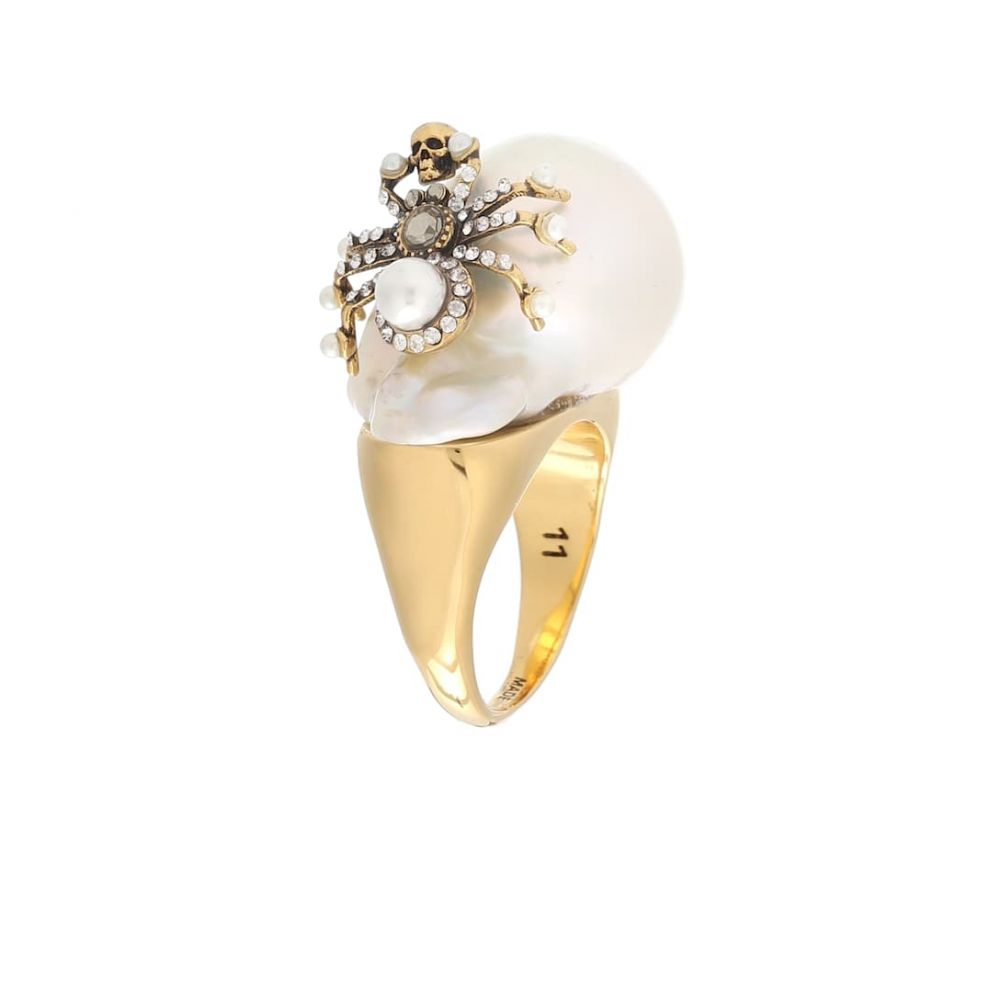【海外限定】 アレキサンダー マックイーン Alexander Alexander ring】 McQueen McQueen レディース ジュエリー・アクセサリー 指輪・リング【Crystal-embellished ring】, 化粧品のりぼん:3a149170 --- newplan.com