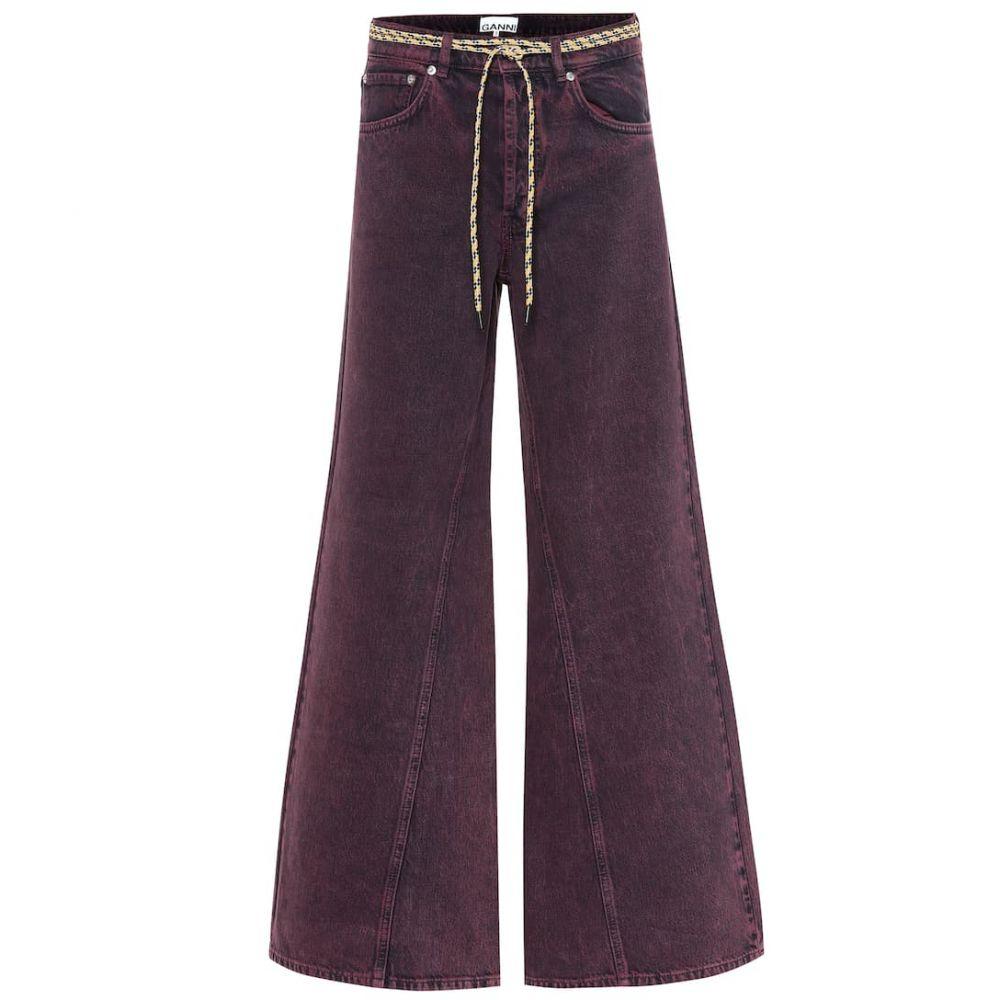 ガニー Ganni レディース ボトムス・パンツ ジーンズ・デニム【High-rise wide-leg jeans】Port Royale