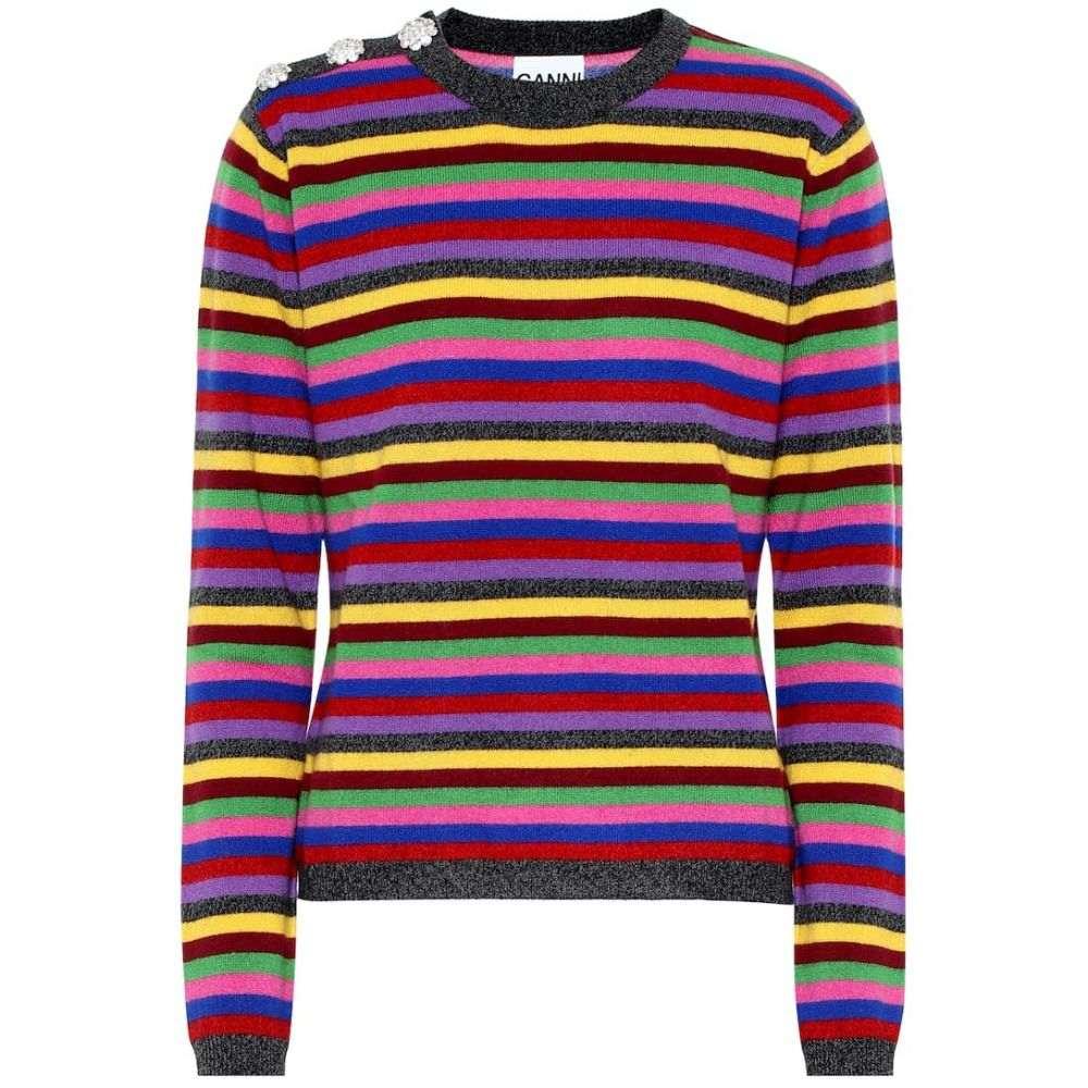 ガニー Ganni レディース トップス ニット・セーター【Striped cashmere sweater】Multicolour
