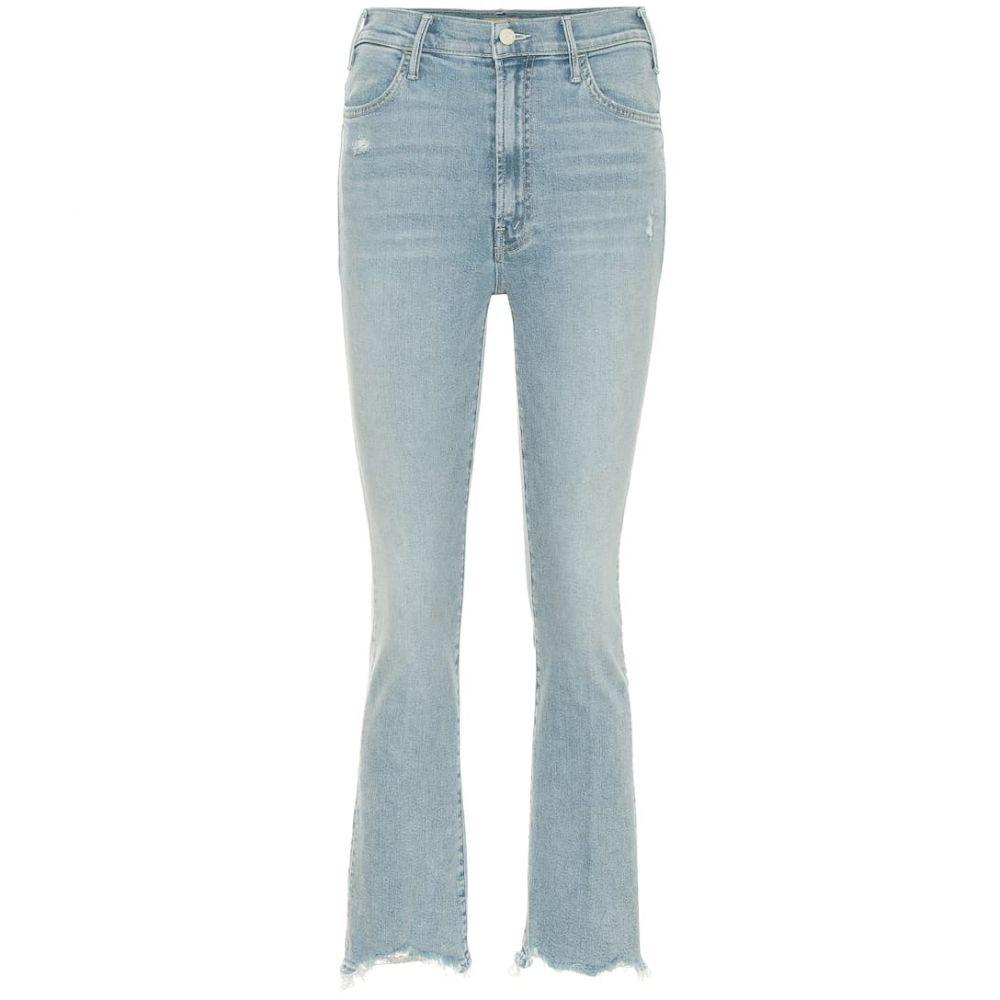 マザー Mother レディース ボトムス・パンツ ジーンズ・デニム【The Hustler cropped high-rise jeans】Napping By The Pool