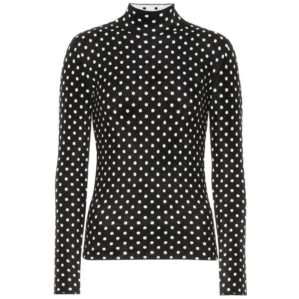 バレンシアガ Balenciaga レディース トップス ニット・セーター【Polka-dot high-neck sweater】Black/White