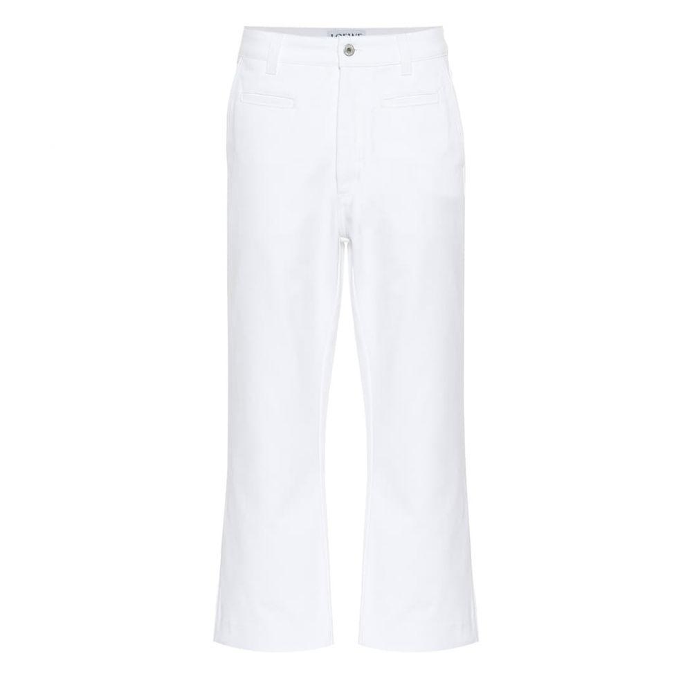 ロエベ Loewe レディース ボトムス・パンツ ジーンズ・デニム【Cropped high-rise wide-leg jeans】White