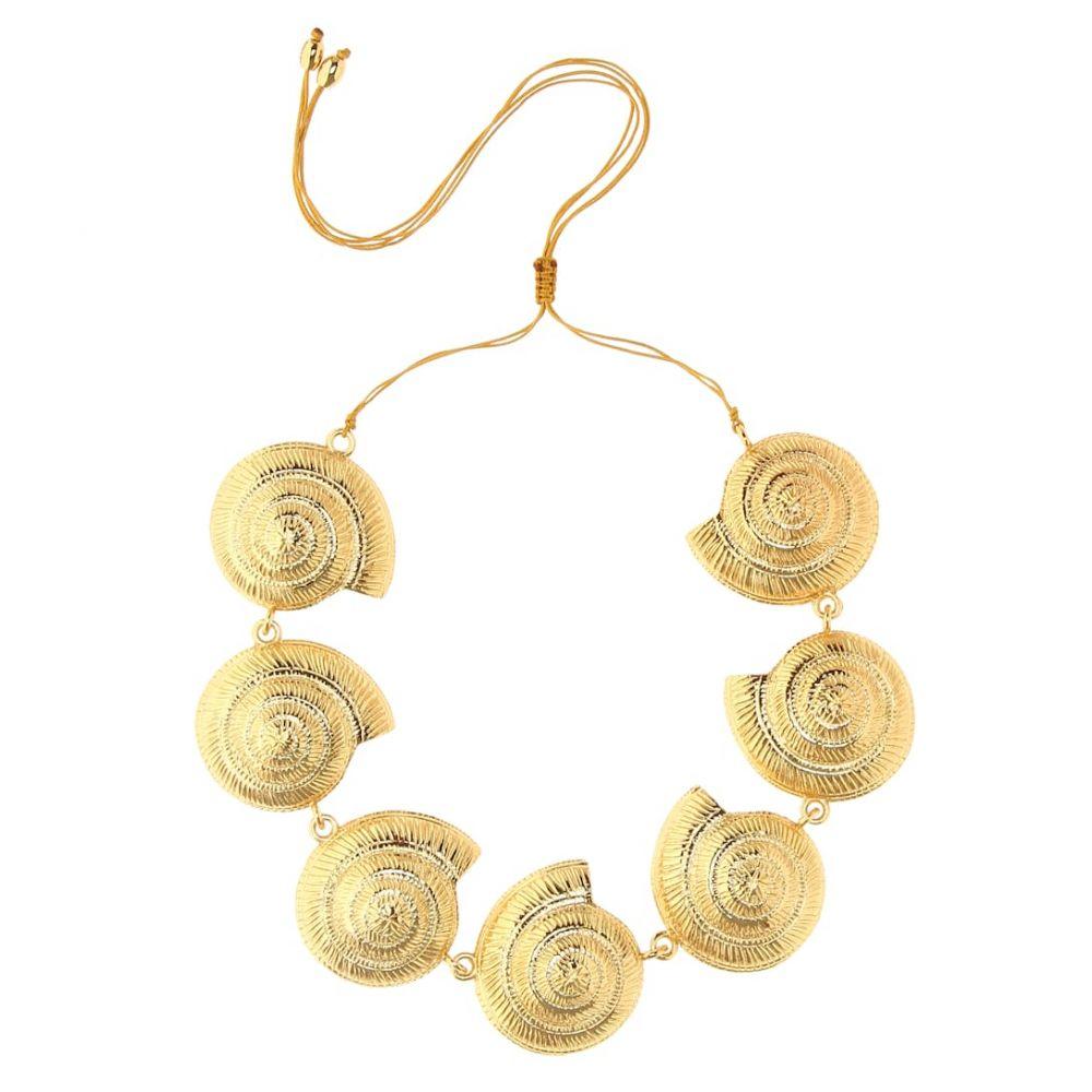 トフム TOHUM Design レディース ジュエリー・アクセサリー ネックレス【Archi 24kt gold-plated shell necklace】