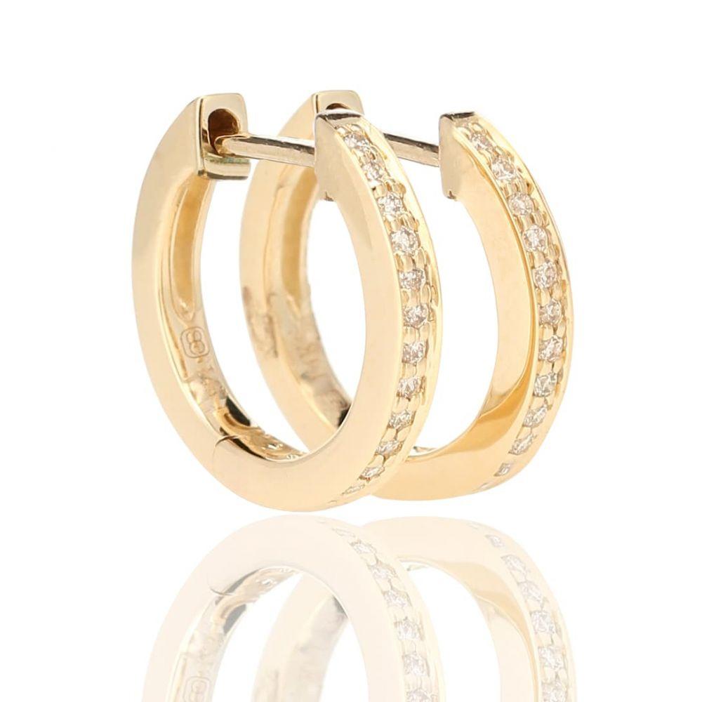 シドニーエヴァン Sydney Evan レディース ジュエリー・アクセサリー イヤリング・ピアス【Huggie 14kt gold and diamond earrings】