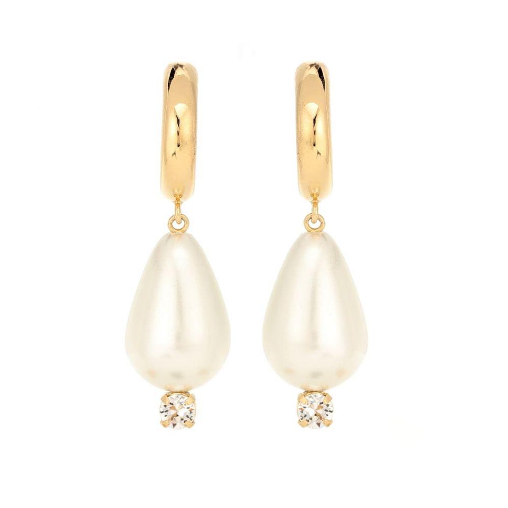 シモーネ ロシャ Simone Rocha レディース ジュエリー・アクセサリー イヤリング・ピアス【Faux-pearl drop hoop earrings】