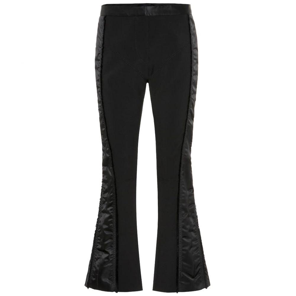 ミュグレー Mugler レディース ボトムス・パンツ スキニー・スリム【Side-striped slim crepe pants】Black