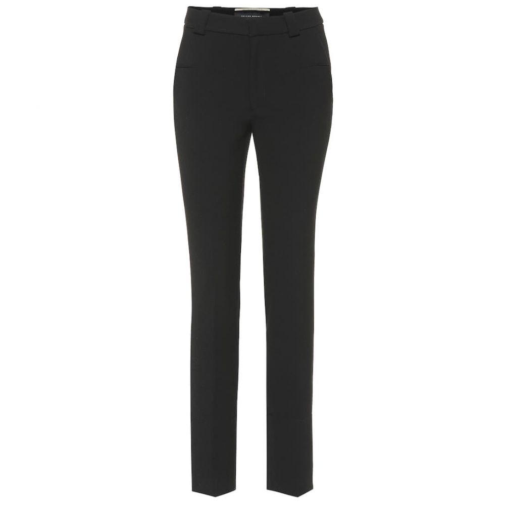 ローラン ムレ Roland Mouret レディース ボトムス・パンツ【Lacerta mid-rise crepe pants】Black