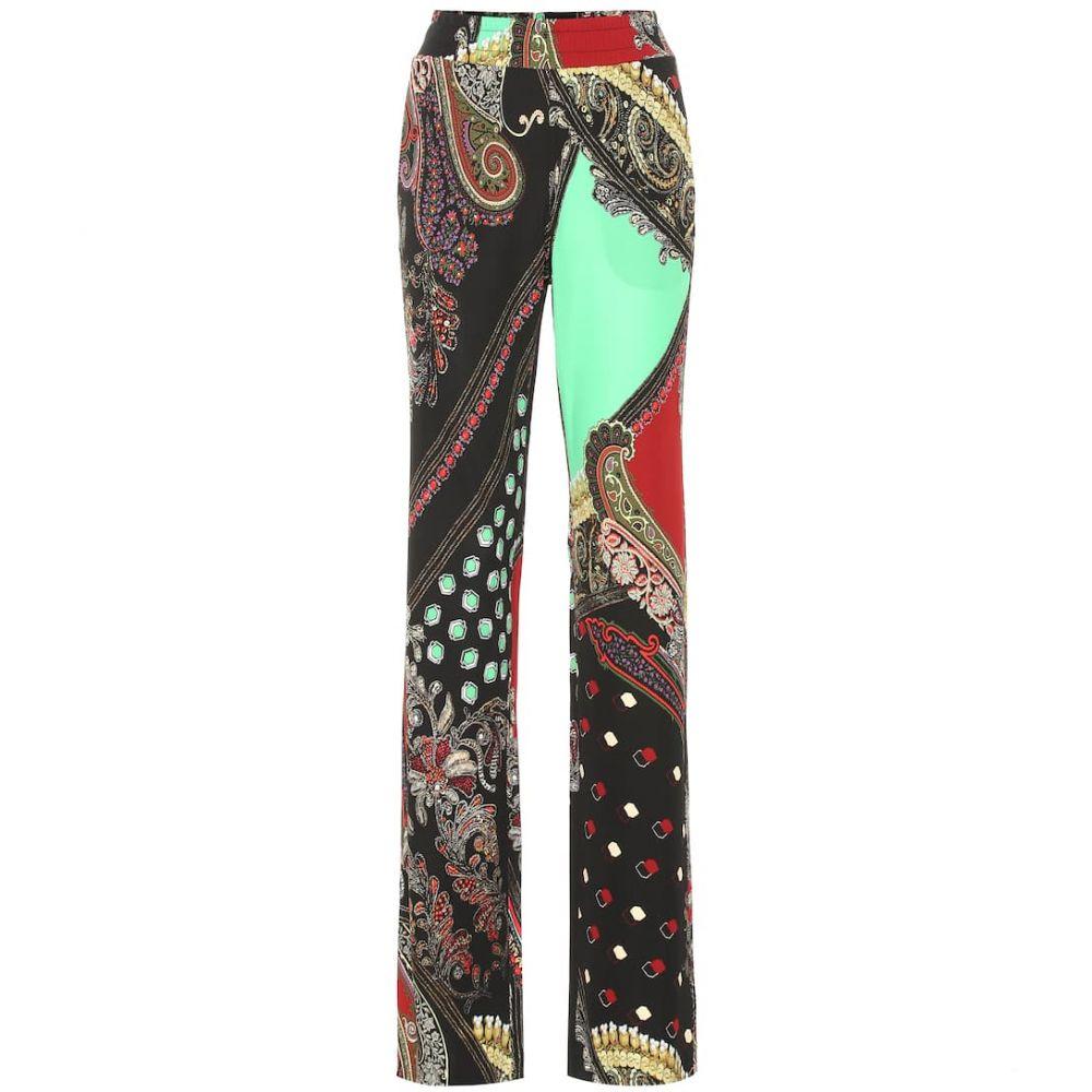 エトロ Etro レディース ボトムス・パンツ【Paisley-printed jersey pants】