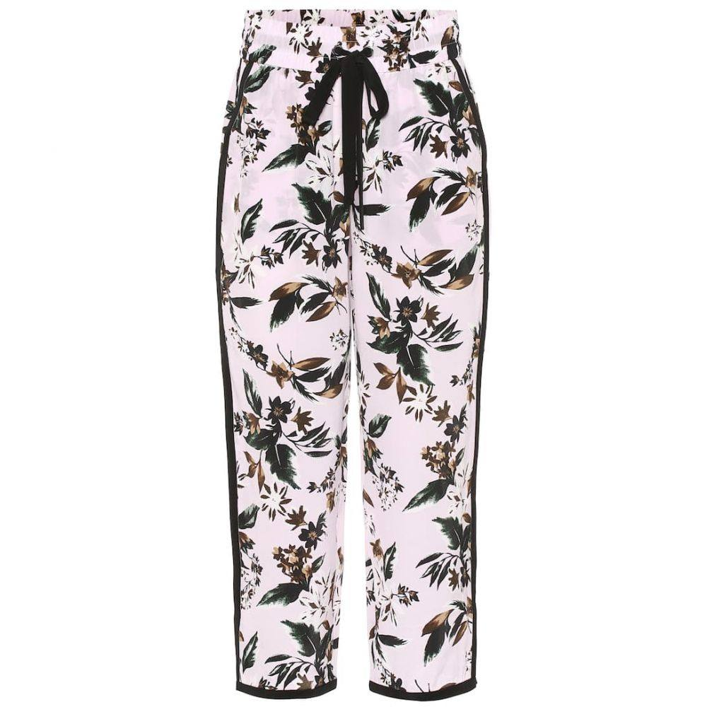 ダイアン フォン ファステンバーグ Diane von Furstenberg レディース ボトムス・パンツ【Lulu floral silk wide-leg pants】Caribean Florl Lavnder Fog Mul