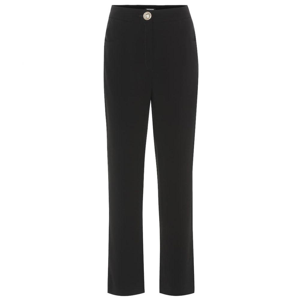 バルマン Balmain レディース ボトムス・パンツ【High-rise crepe straight pants】Noir