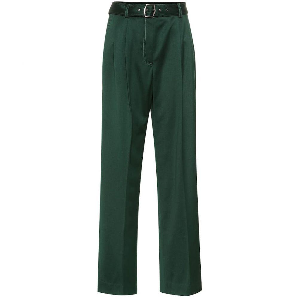 シエス マルジャン Sies Marjan レディース ボトムス・パンツ【Blanche wool-twill wide-leg pants】Forest Greem