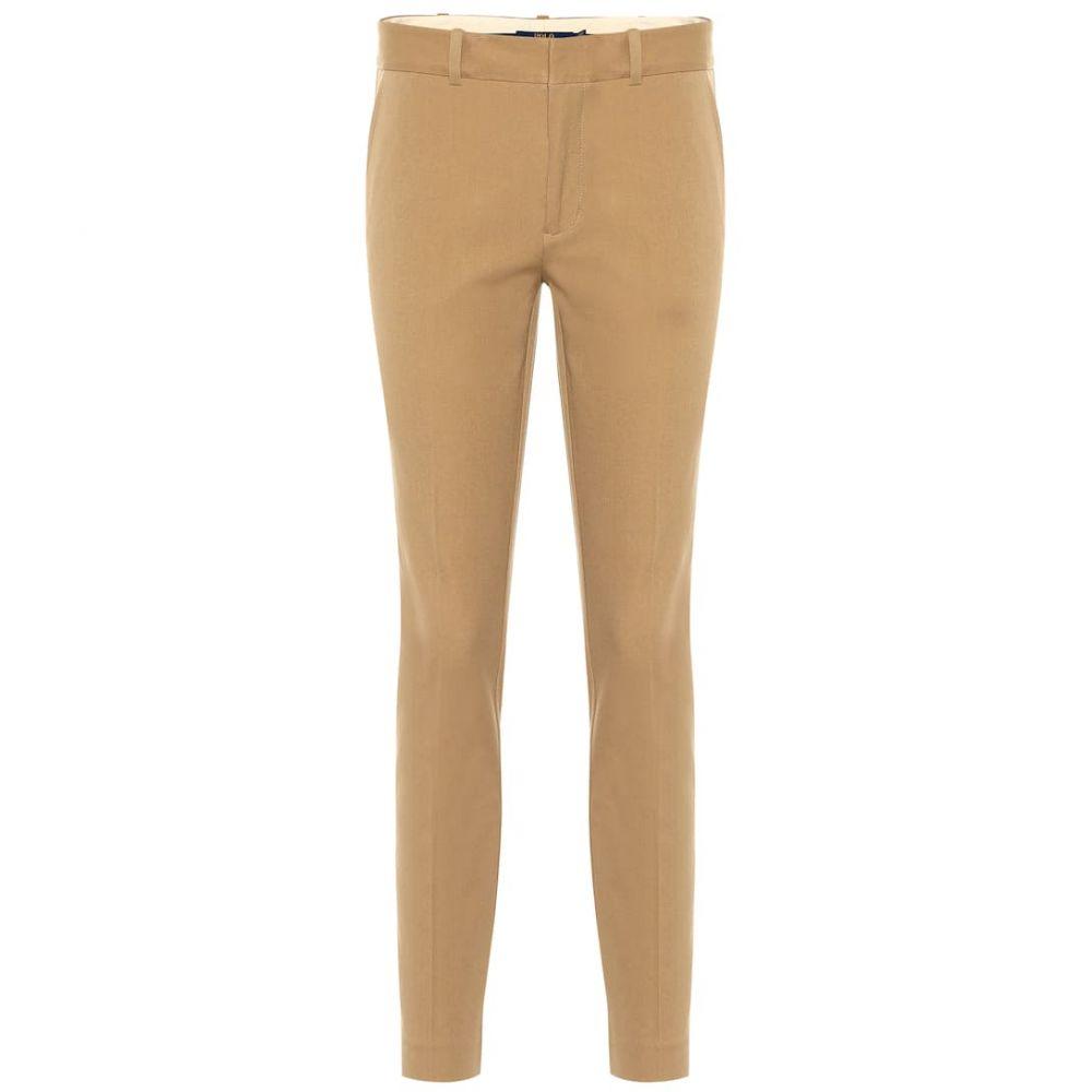 【公式】 ラルフ ローレン Polo Ralph Lauren レディース ボトムス・パンツ スキニー・スリム【Mid-rise skinny cotton blend pants】Luxury Tan, MOTO GP CLUB c064d39e