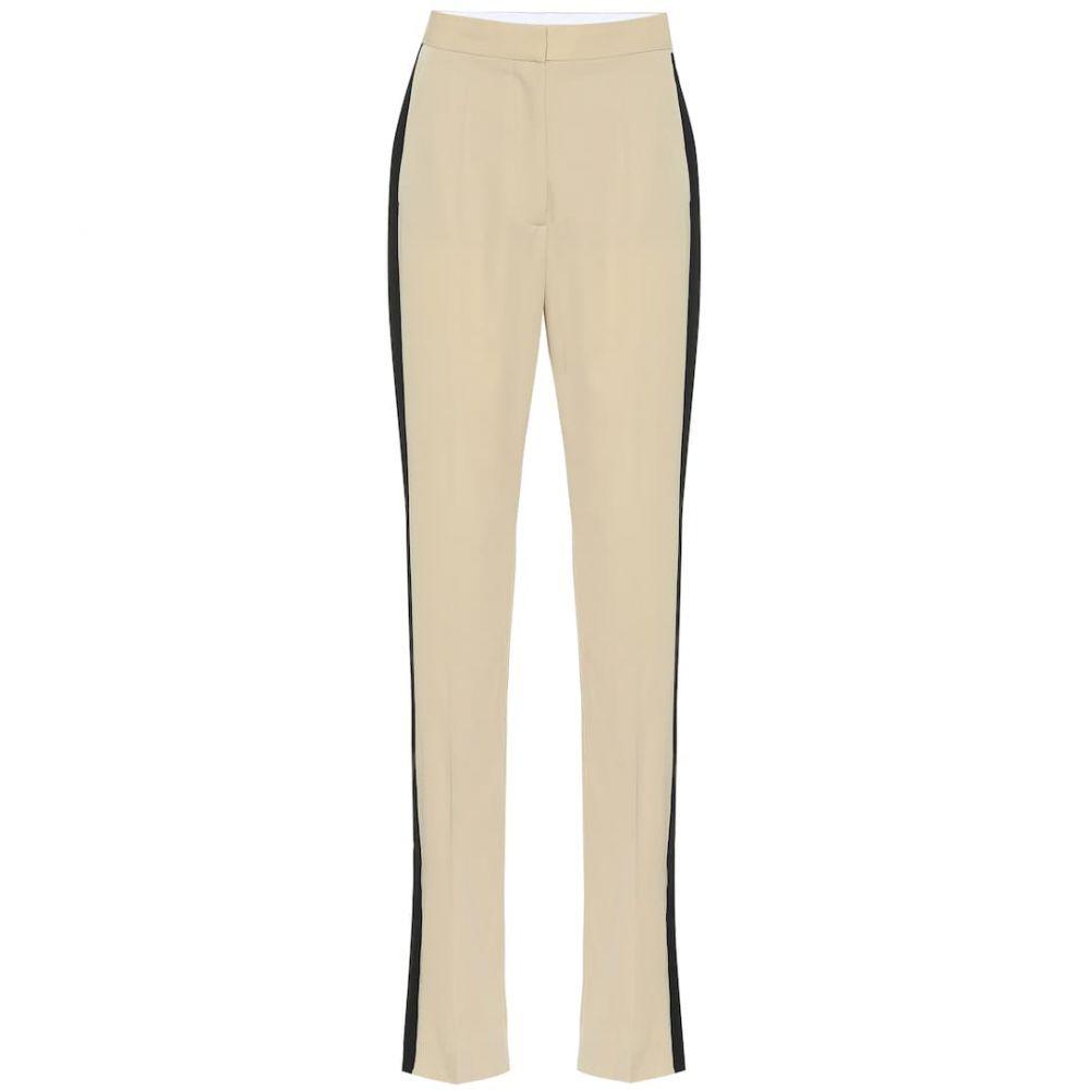 ステラ マッカートニー Stella McCartney レディース ボトムス・パンツ【High-rise wool straight pants】Sand