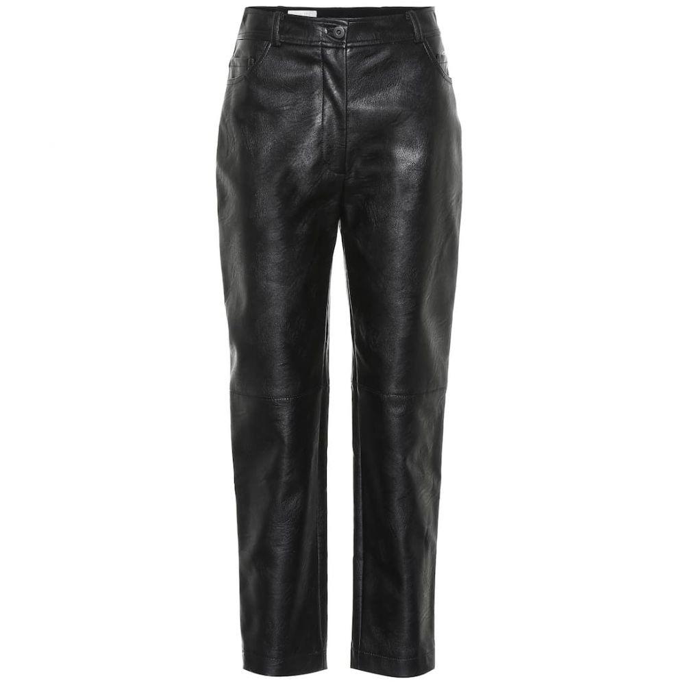 ステラ マッカートニー Stella McCartney レディース ボトムス・パンツ【High-rise faux leather pants】Black